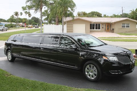 Picture of a stretch limousine in our parking lot